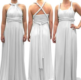 4Now Fashions Infinity Dress Long Bridesmaid Dress Prom Convertible Multiway