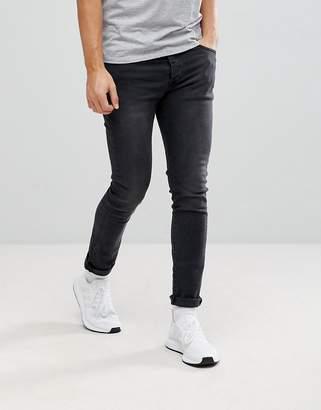 Mennace Super Skinny Jeans in Black