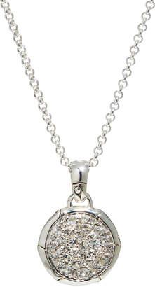 John Hardy Bamboo White Topaz Pendant Necklace