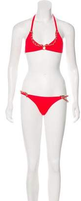 Agent Provocateur Chain-Link Belted Swimsuit w/ Tags
