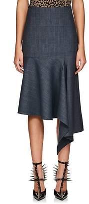 Balenciaga Women's Checked Wool-Blend Asymmetric Skirt
