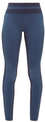 Vaara Flo Striped Performance Leggings - Womens - Black Navy