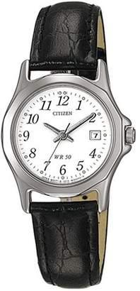 Citizen Womens Analogue Quartz Watch with Leather Strap EU1950-04A
