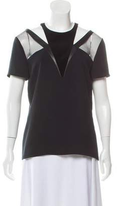 The Kooples Cutout-Accented Short Sleeve Top