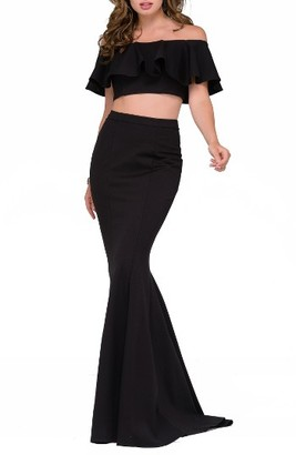 Women's Jovani Two-Piece Mermaid Gown $540 thestylecure.com