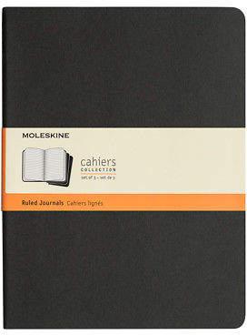 Moleskine NEW Cahier Ruled Journal Extra Large Black Set 3pce