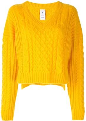 Puma Maison Yasuhiro cable-knit cropped jumper