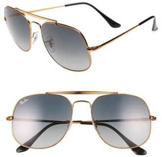 Women's Ray-Ban 57Mm Aviator Sunglasses - Bronze $160 thestylecure.com