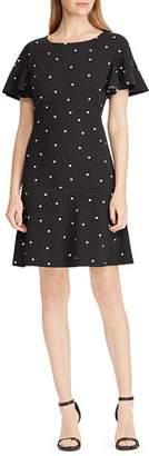 Ralph Lauren Printed Flutter-Sleeve Dress