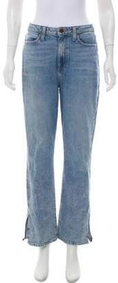 Alice + Olivia High-Rise Straight-Leg Jeans