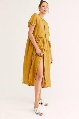 Free People Lou Lou Linen Midi Dress