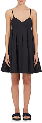 Calvin Klein Women's Pleated Cotton Mousseline Dress $1,295 thestylecure.com