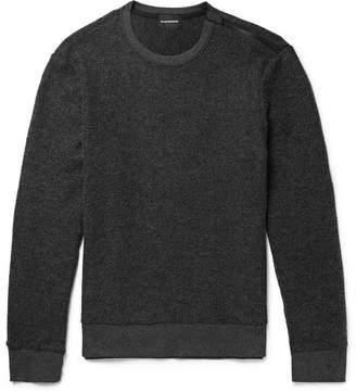 Club Monaco Slim-Fit Zip-Detailed Brushed-Fleece Sweatshirt