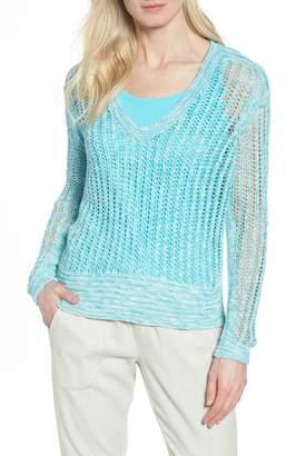 Nic+Zoe Open Stitch Sweater