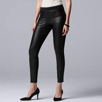 Vera Wang Women's Simply Vera Faux-Leather Leggings