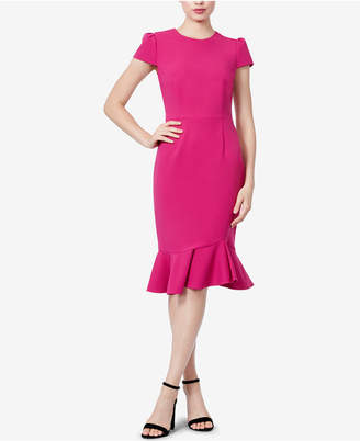 Betsey Johnson Flounce Scuba Sheath Dress