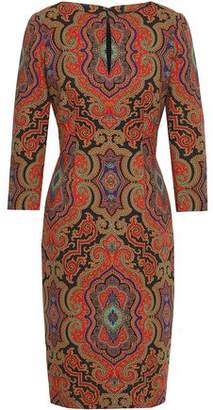 Etro Printed Stretch-Wool Dress
