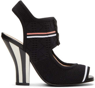 Fendi Black Stretch Sock Sandals
