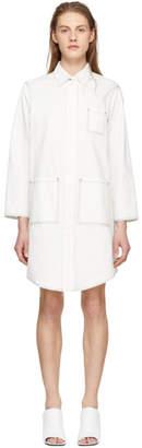 Maison Margiela Off-White Oversized Button-Up Coat