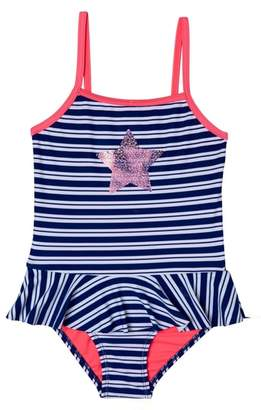 Hula Star Retro Stripe One-Piece Swimsuit