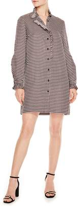 Sandro Optic Plaid Shirtdress