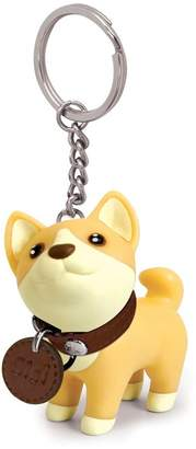 Qiyun Creative PVC Cute Cartoon Dog Rotary Head Key Chain Car Decoration Gift Pendant Hanging Decoration