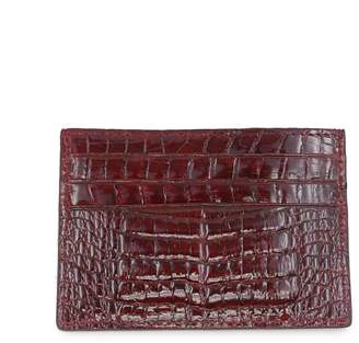 Fiona's Collection Crocodile Leather Cardholder