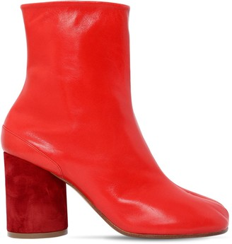 Maison Margiela 90MM TABI LEATHER ANKLE BOOTS