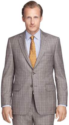Brooks Brothers Madison Fit Brown Plaid 1818 Suit