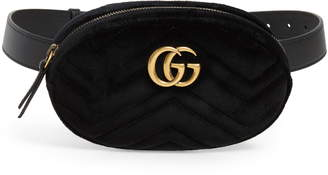 eee678f33a94 Gucci Small GG Marmont 2.0 Velvet Belt Bag