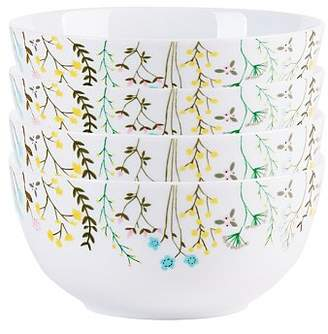 George Home Wild Flowers Print Cereal Bowls - Set of 4