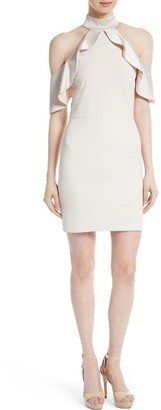 Women's Alice + Olivia Ebony Cold Shoulder A-Line Dress $375 thestylecure.com