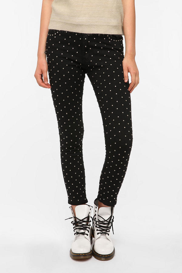 Evil Twin Voodoo High-Rise Studded Cropped Jean