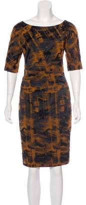 Lela Rose Printed Midi Dress