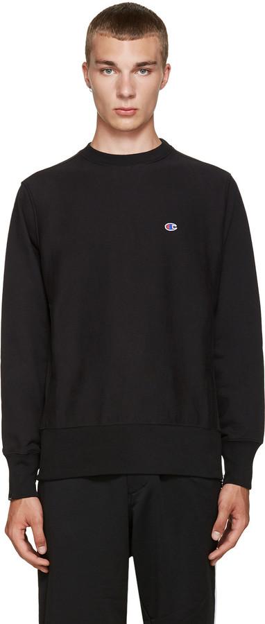 Champion x Beams Black Reverse Weave Sweatshirt