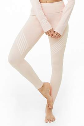 Forever 21 Active Striped-Trim Leggings