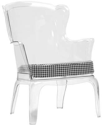 Baxton Studio Tasha Polycarbonate Modern Accent Chair - Clear