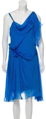 Philosophy di Alberta Ferretti Silk Asymmetrical Dress