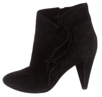 Marc by Marc Jacobs Suede Ruffle Booties