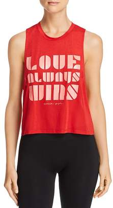 Spiritual Gangster Love Always Wins Cropped Muscle Tank