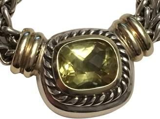 David Yurman Albion 925 Sterling Silver & 14K Yellow Gold Citrine Necklace