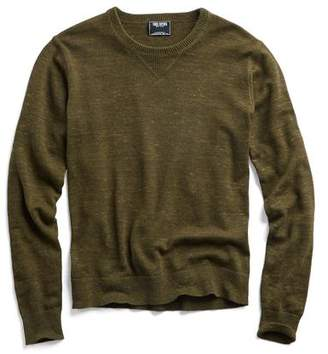 Todd Snyder Cotton Cashmere Spaced Dyed Sweater in Olive