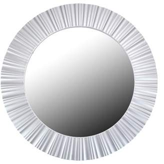"""Northlight 20"""" Simply Elegant Silver Fluted Frame Round Wall Mirror"""