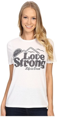 Life Is Good Love Strong Mountain Cool Tee $28 thestylecure.com