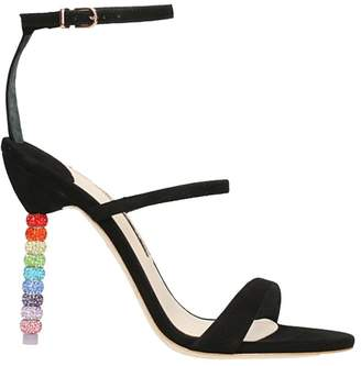 Sophia Webster Rosalind Crystal Black Suede Sandals