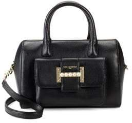 Karl Lagerfeld Paris Bianca Leather Satchel