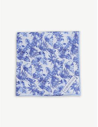 Corneliani Floral linen pocket square