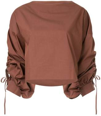 Aula ruched sleeve top