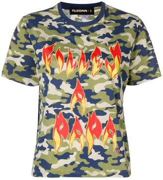 Filles a papa Fire printed T-shirt
