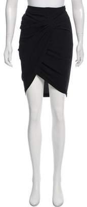 Helmut Lang Draped Knee-Length Skirt w/ Tags